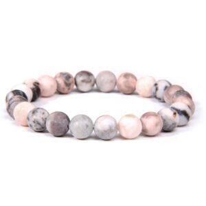 pink zebra stone